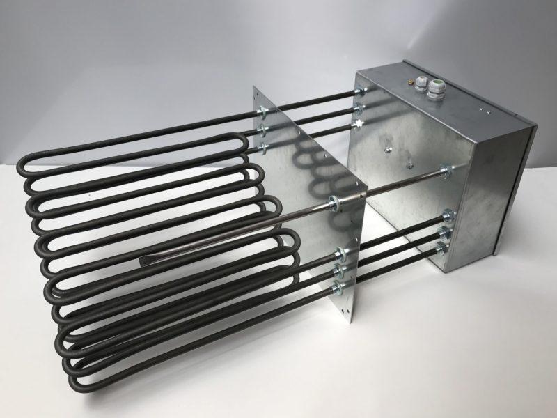 Batterie rectangulaire sans cadre et avec éléments chauffants tubulaires blindés – SCIENTAX