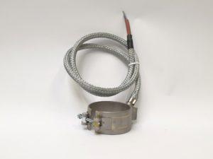 Collier chauffant mica blindé étanche sortie axiale à 45° // Waterproof armoured mica nozzle-heaters - SCIENTAX