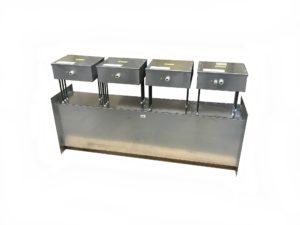 Batterie rectangulaire avec 4 allures et boitiers décalés - SCIENTAX
