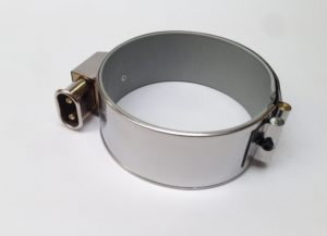 Collier chauffant mica blindé – SCIENTAX // Armoured mica heating band with tangential connector power supply - SCIENTAX