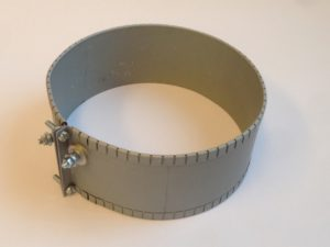 Collier chauffant mica blindé – SCIENTAX // Armoured mica heating band with threaded terminal supply - SCIENTAX