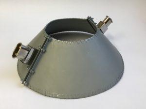 Collier chauffant mica blindé formé en cône – SCIENTAX // Armoured mica heating band shaped cone - SCIENTAX