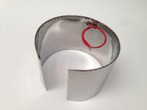 Collier chauffant mica blindé avec alimentation à l'intérieur – SCIENTAX // Armoured mica heating band with internal power supply - SCIENTAX