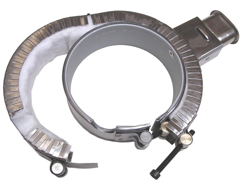 Collier chauffant mica blindé, avec carter calorifugé et connecteur radial – SCIENTAX // Shielded mica heating collar, with insulated housing and radial connector - SCIENTAX