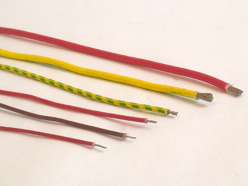 Câble nickel sous gaine soie de verre (très haute température) - SCIENTAX