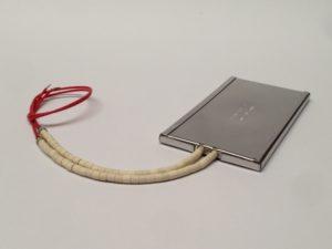 Résistances chauffantes plates céramique blindés avec sorties fils sous perles – SCIENTAX //