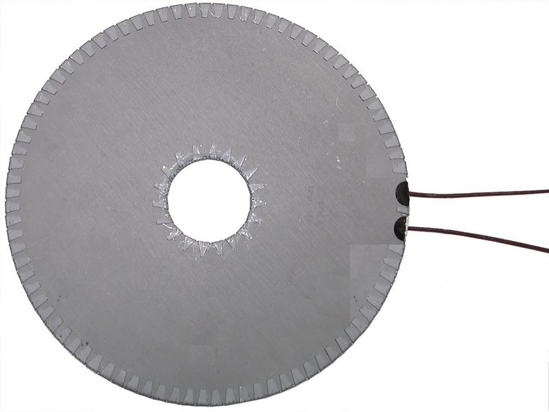 Résistance chauffante plate mica blindé circulaire – SCIENTAX // Circular armoured mica flat heating element - SCIENTAX