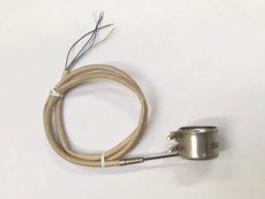 Collier chauffant réalisé avec une résistance chauffante tubulaire blindée formable à froid.