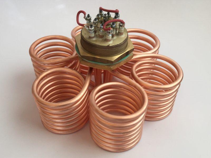 Thermoplongeur fond de cuve pour chauffage d'eau du réseau.