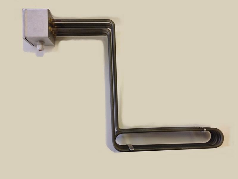 Thermoplongeur bord de cuve, fond de bac avec boitier de connexions.