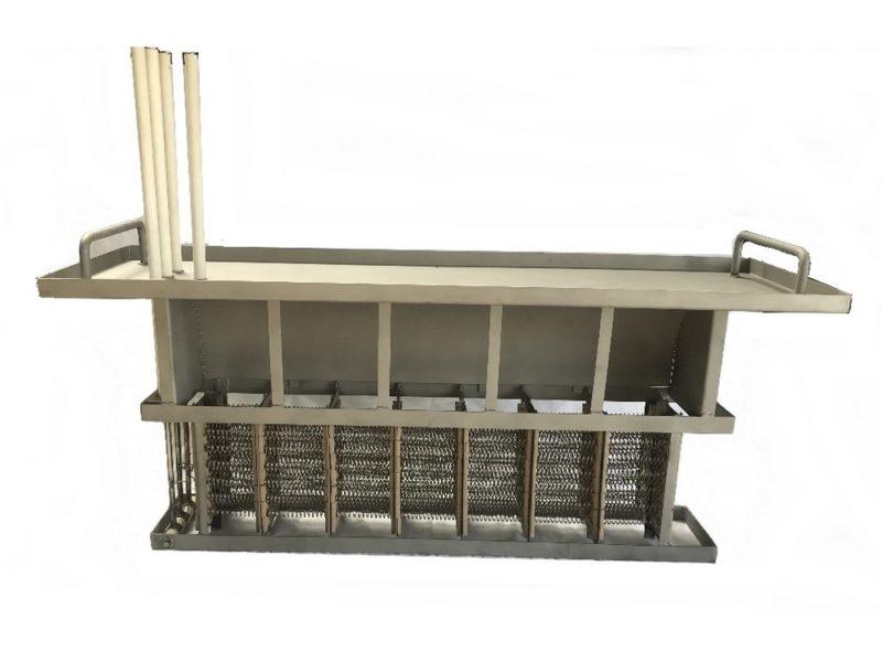 Batterie rectangulaire sans cadre et avec éléments chauffants en fils nickel Chrome 80/20 – SCIENTAX // Rectangular frameless duct heater with heating elements in Chrome 80/20 nickel wire - SCIENTAX
