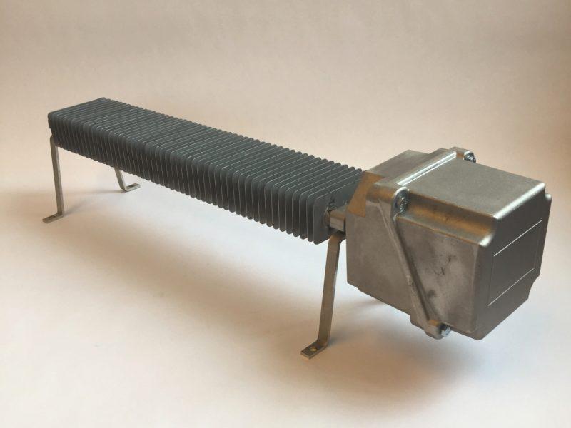 Convecteur avec pattes de fixation et boitier aluminium.