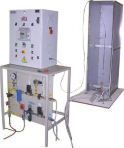 Ensemble écran, platine gaz et armoire de commande pour test de résistance au feu des câbles électriques suivant les normes CEI 60332-1 et EN 60695